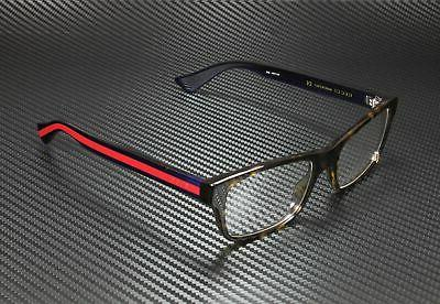 Gucci Men's Eyeglasses GG0006O GG/0006/O 003 Havana/Blue/Red