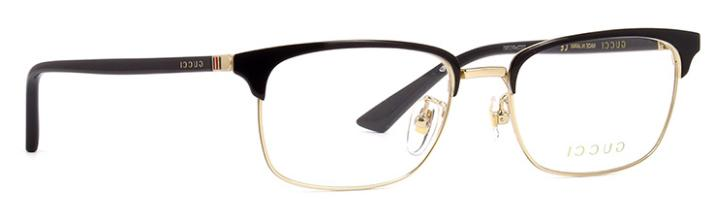 *NEW AUTHENTIC* GUCCI GG0131O 001 BLACK EYEGLASS FRAME SIZE