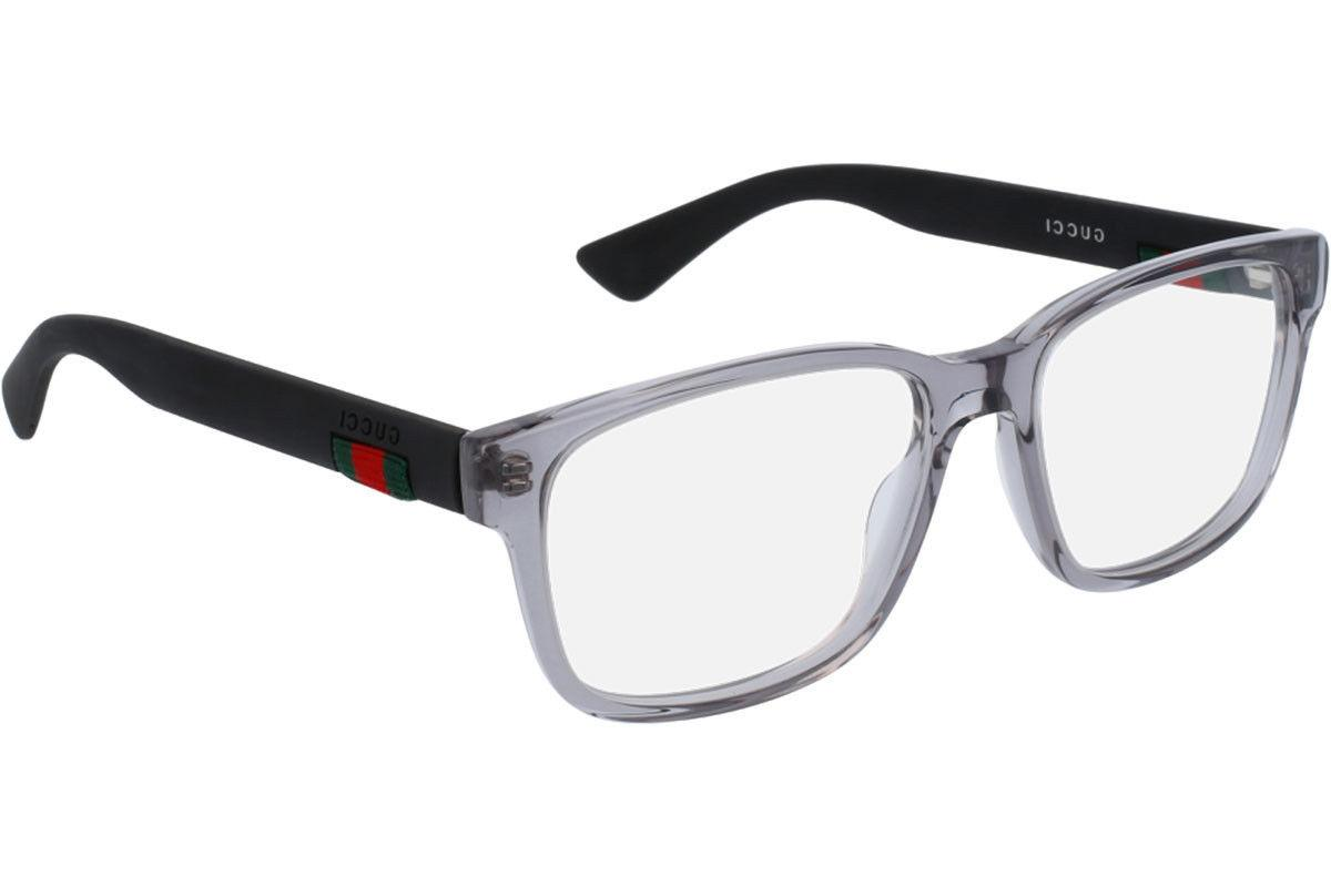 NEW Authentic GUCCI Mens Grey Matte Black Rubber Eye Glasses