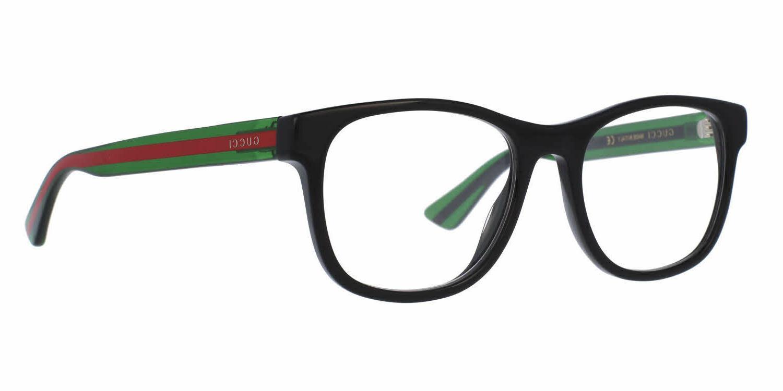 NEW Black Green Transparent Eye Glasses Frame GG 002 4O