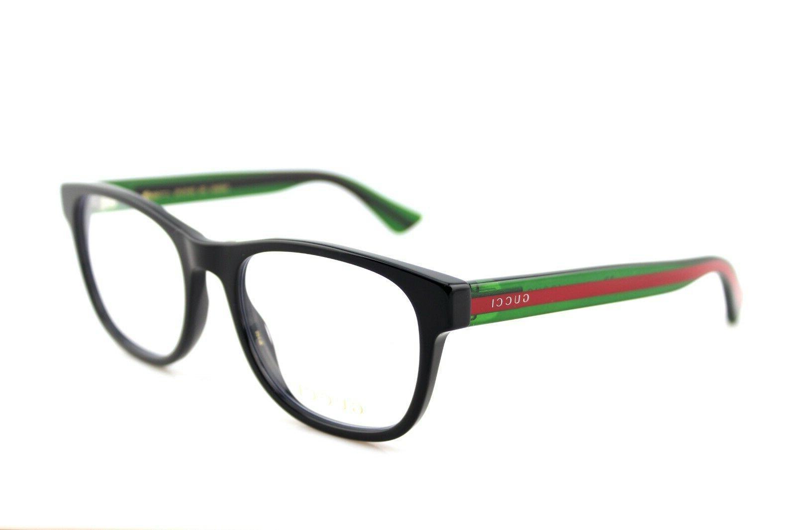 NEW GUCCI Mens Green Transparent Stripe Eye Glasses GG 002 4O