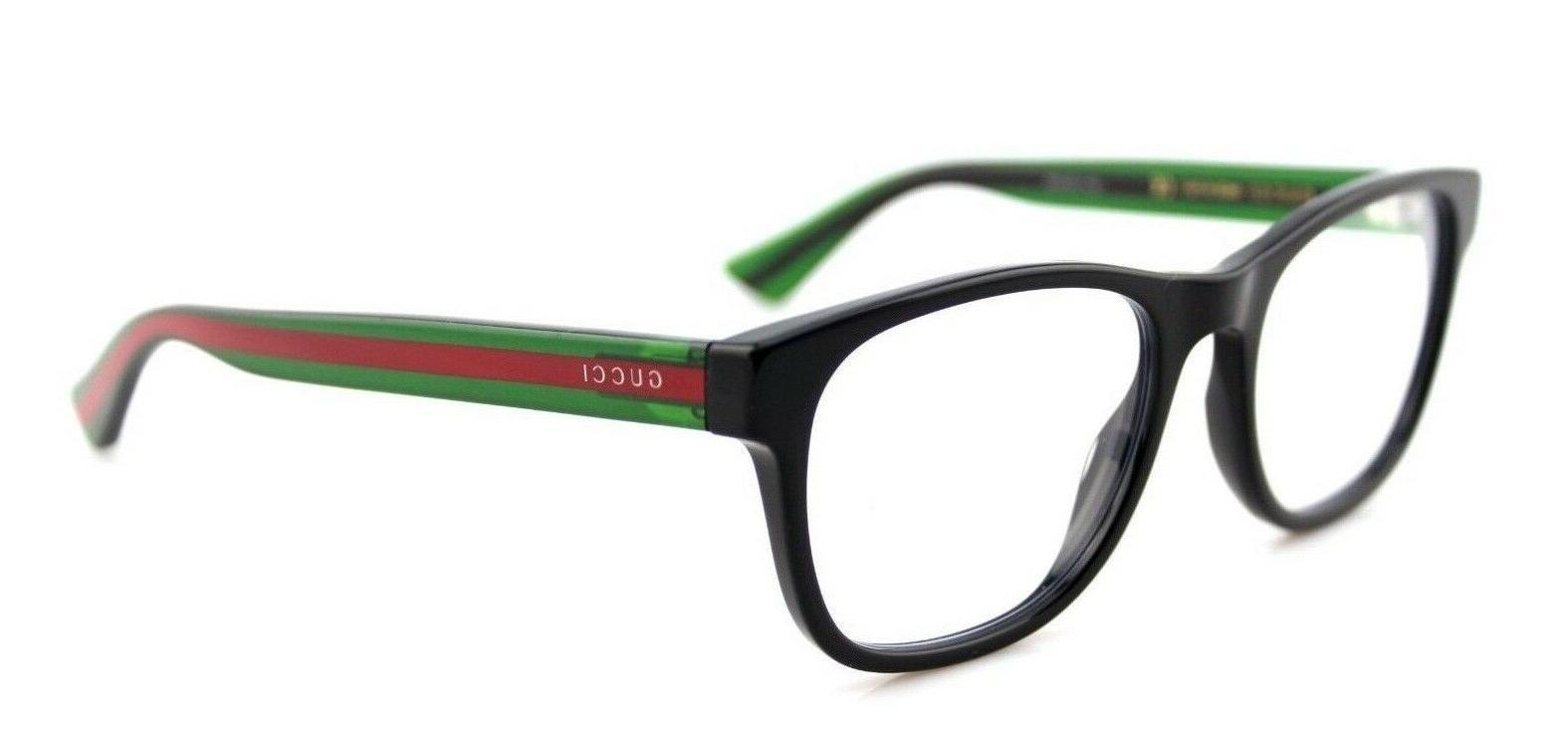 NEW GUCCI Mens Green Stripe Eye Glasses Frame GG 0004O 002
