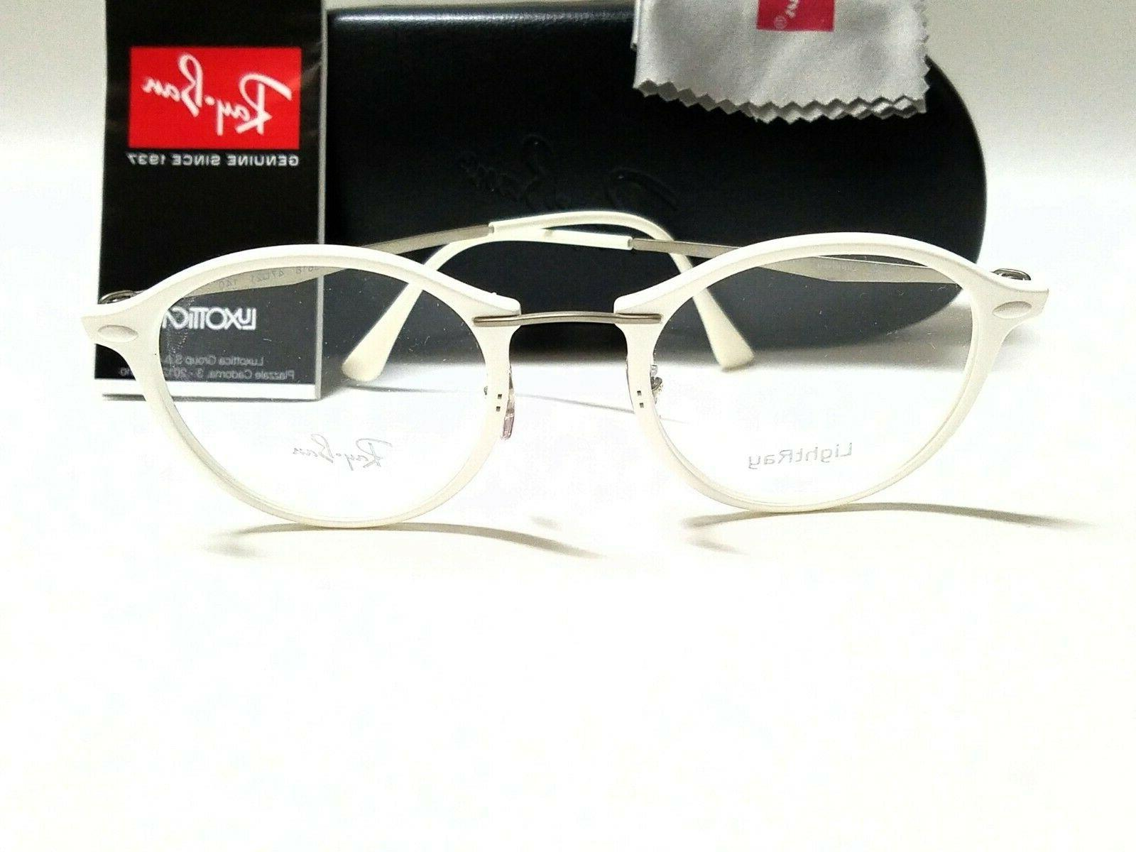Authentic RAY RX7073 5618 LightRay Round Eyeglasses