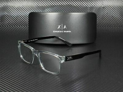 Armani Exchange AX3016 8239 TRANSPARENT 53 Men's Eyeglasses