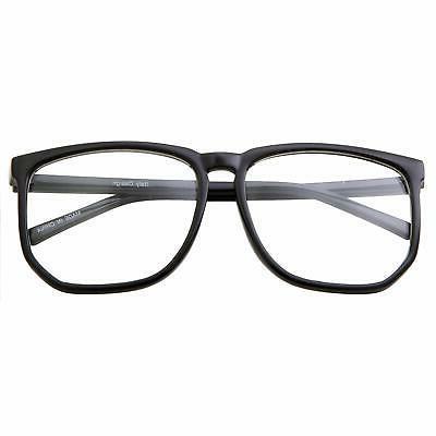 Black Frame Non-prescription Glasses Clear Fashion