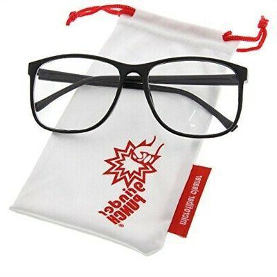 black nerdy thin plastic frame