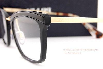 Brand Eyeglasses Frames 15U 15UV KUI Black/Gold SZ