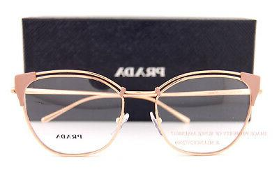 Brand New Prada Eyeglasses Frames Beige/RoseGold SZ