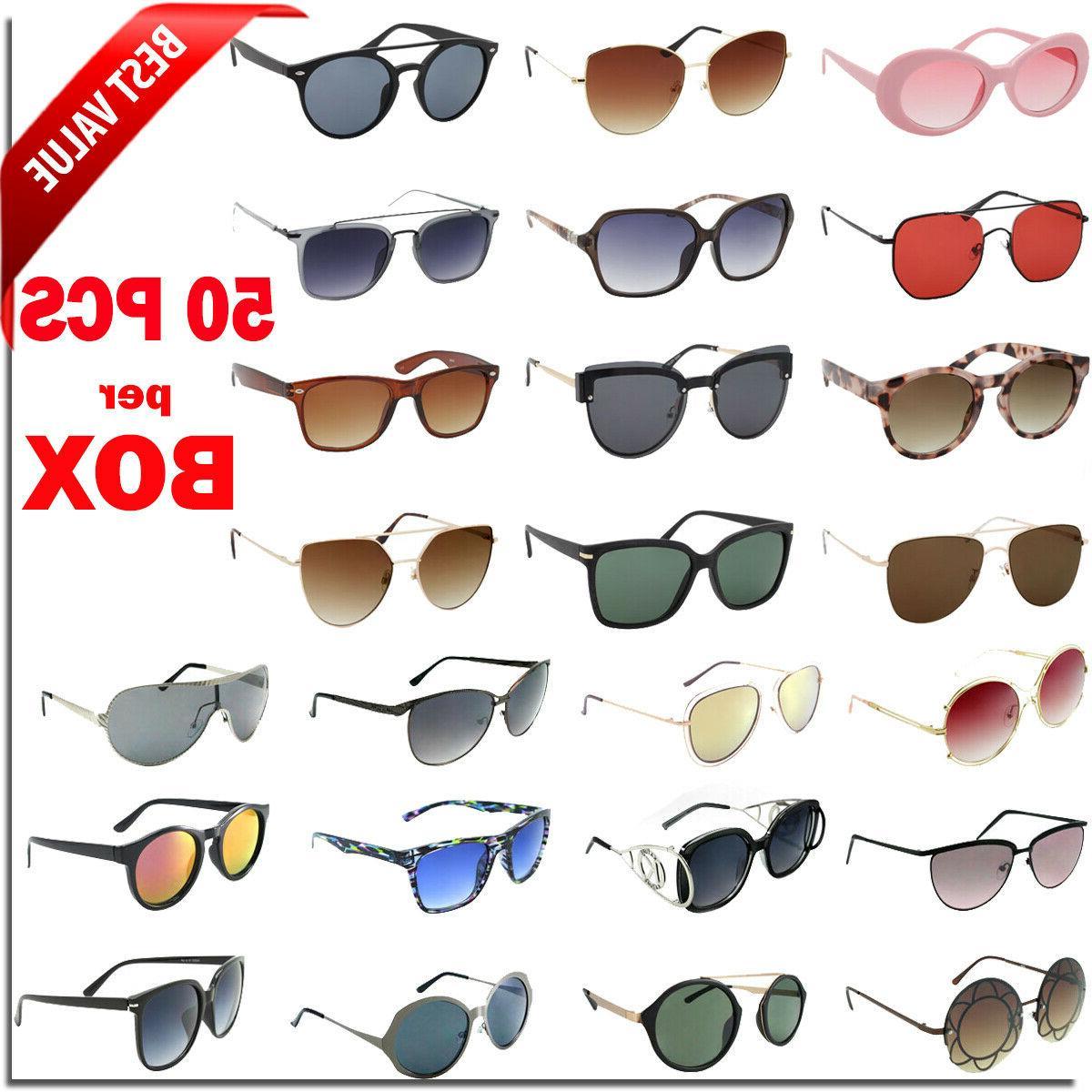 bulk lot wholesale 50 fashion sunglasses eyeglasses