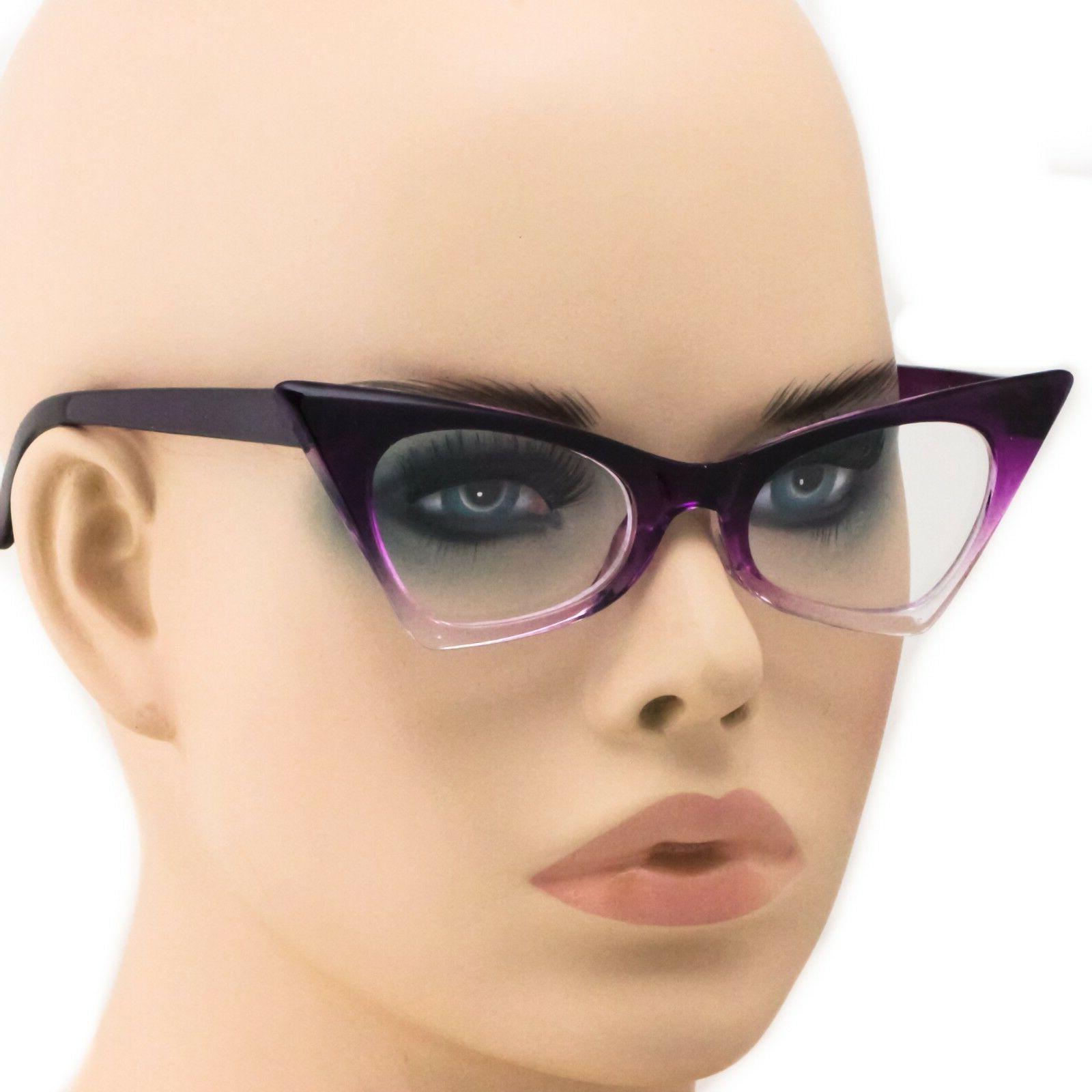 Cat Eye Gradient Frames Lens Glasses Eyeglasses New