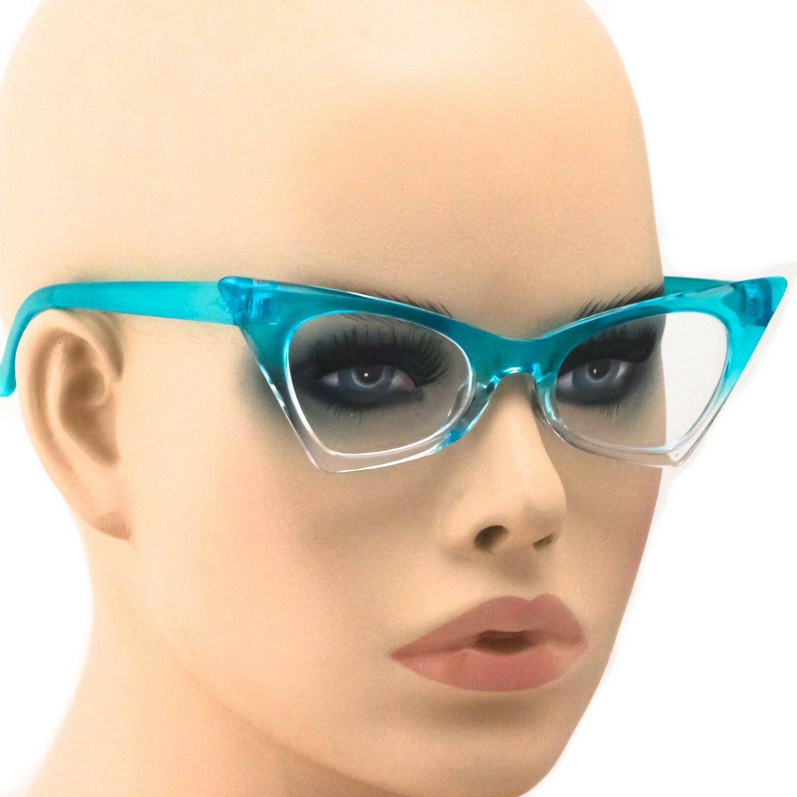 Cat Ombre Frames Designer Clear Lens Glasses
