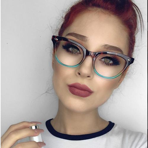 "Cat Eye ""Ombre"" Eyeglasses Gradient Shadz"