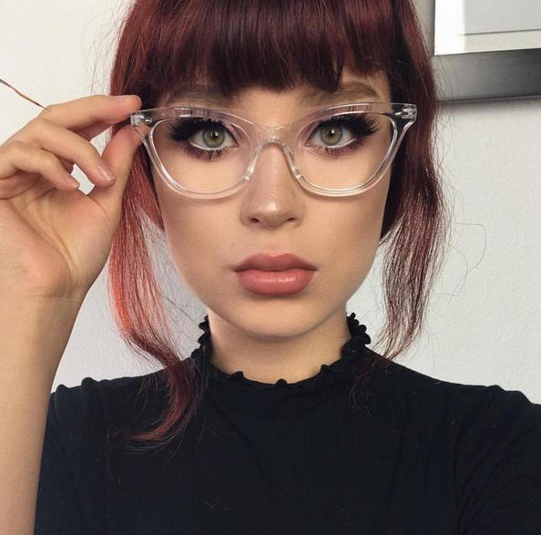 Cat Eye Eyeglasses Two Tone