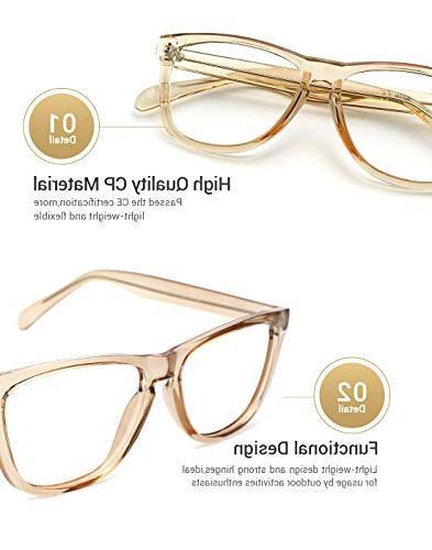 TIJN Retro Eyeglasses for Men Women Oversize