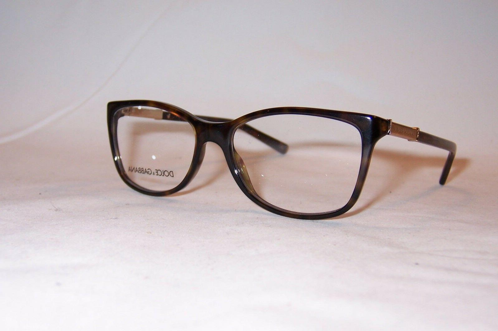 Dolce & Gabbana DG 3107 Logo Plaque Eyeglasses 502 Havana