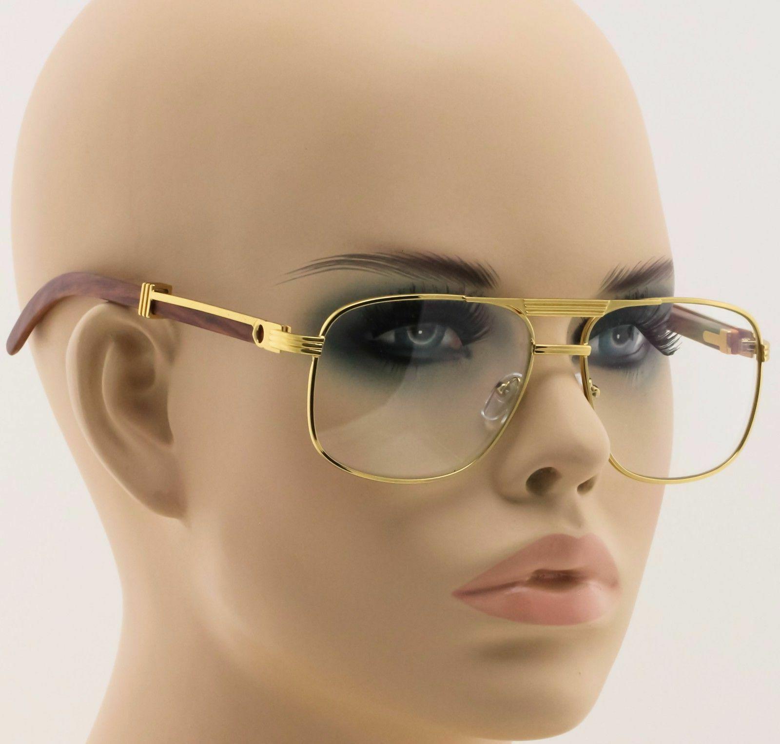executive aviator eyeglasses clear lens sunglasses metal
