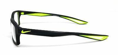 NIKE Eyeglasses 4281 001 Black-Volt Rectangle Men's 52x16x140
