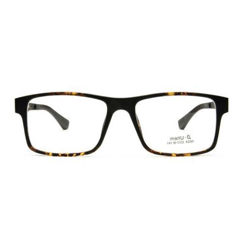 Eyeglasses Frame Clip on Driving Glasses Men