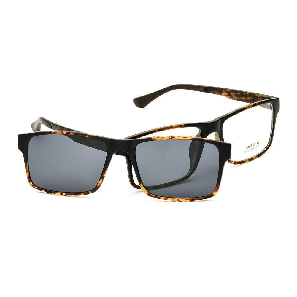 eyeglasses frame magnetic clip on driving sunglasses