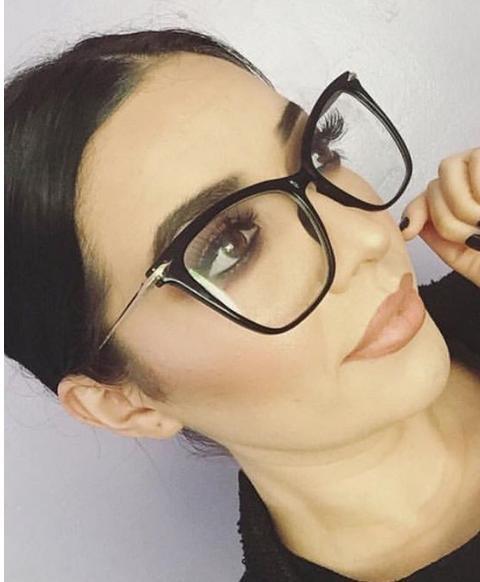 FEARLESS Women Eyeglasses EYE Clear Metal ARMS Oversized