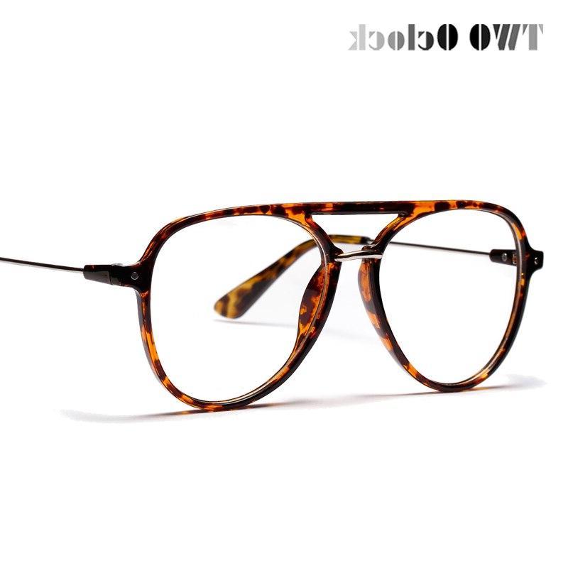 TWO Oclock <font><b>Aviation</b></font> Women Men Classic <font><b>Eyeglasses</b></font> Clear Lens Glasses Frame Eyewear 81339