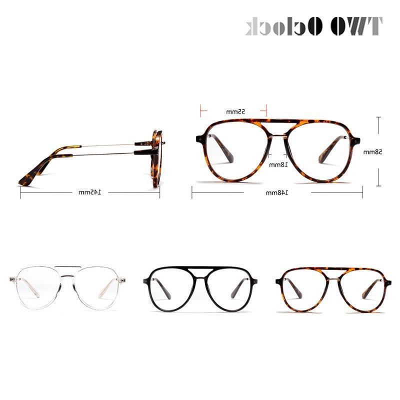 TWO Oclock <font><b>Aviation</b></font> Women Men Classic Optics <font><b>Eyeglasses</b></font> Glasses Frame Pilot Eyewear
