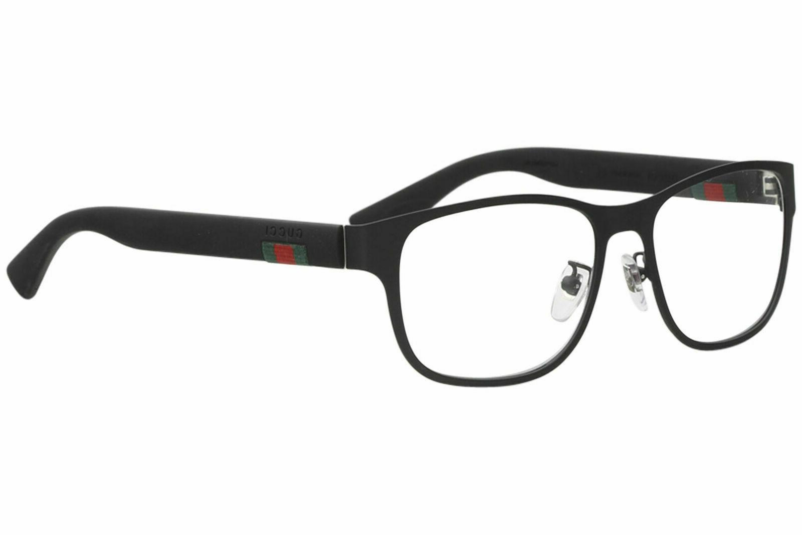 gg 0013o 001 black metal square eyeglasses