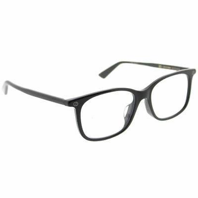 gg 0157o 001 black plastic square eyeglasses