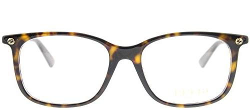 Gucci Havana Eyeglasses 52mm