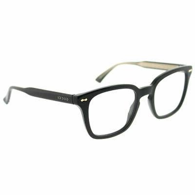 gg 0184o 001 black plastic square eyeglasses