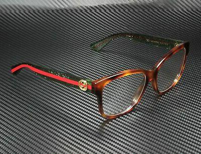 Gucci GG0038O RECTANGULAR SQUARE HAVANA 54 Eyeglasses