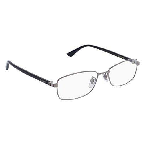 gg0063oj eyeglasses 001 ruthenium black clear lens