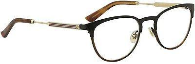 gg0134o womens round eyeglasses 52 mm