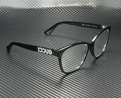Gucci GG0421O 001 RECTANGULAR SQUARE BLACK DEMO LENS 55 mm W