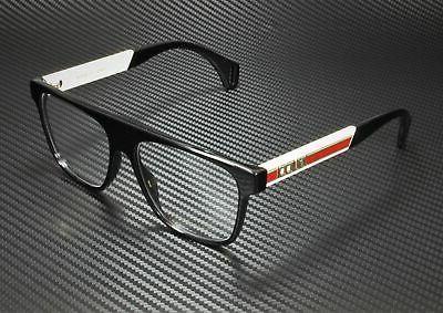 GUCCI GG0465O Square Black Demo 55 mm Eyeglasses