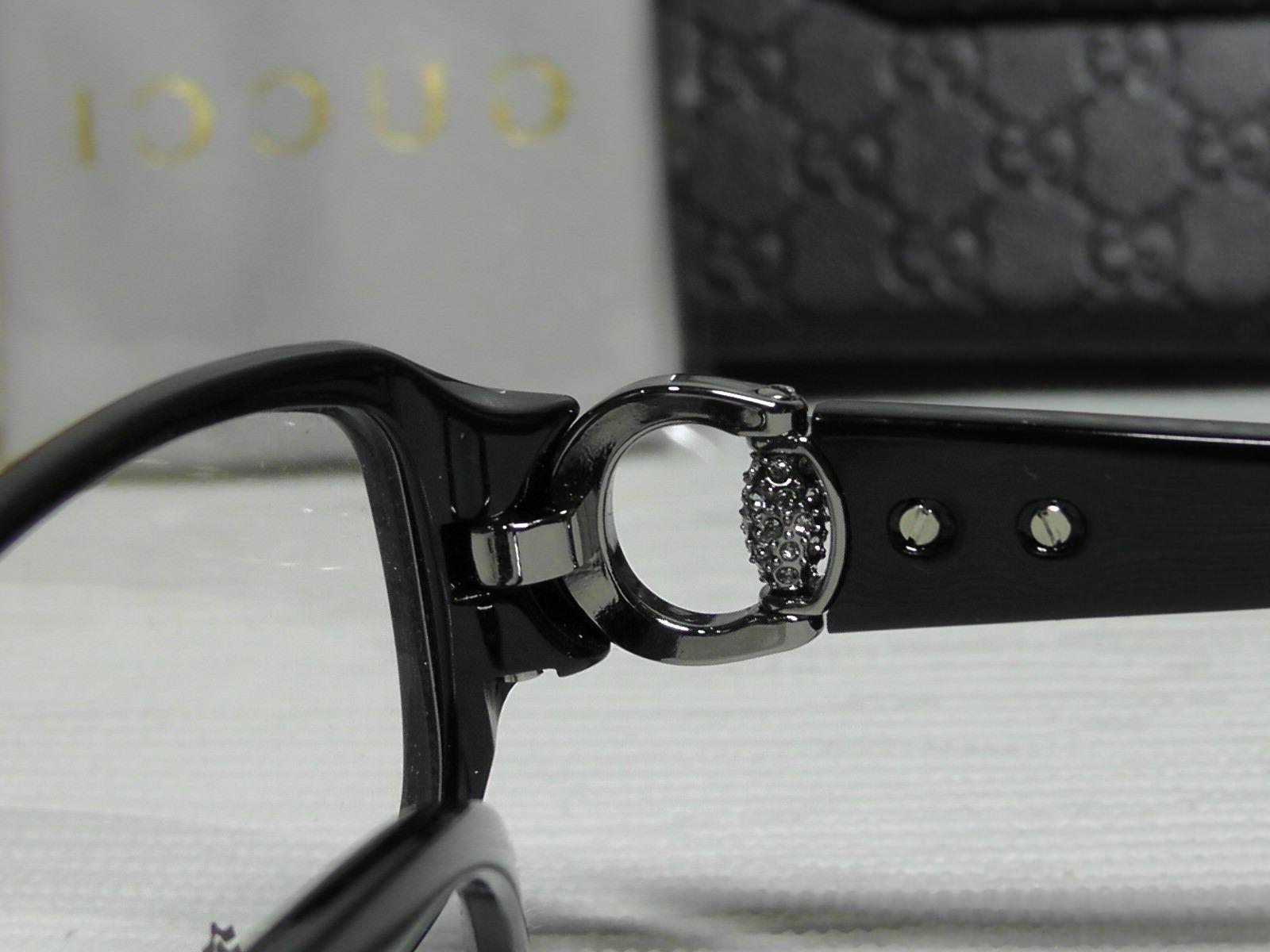 Gucci GG3204 Shiny Frame w/Crystal D28 15 140 Rectangle NIB