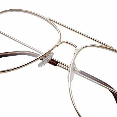 grinderPUNCH Aviator Clear Eyeglasses for with