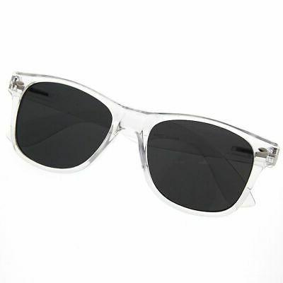 grinderPUNCH Clear Lens Transparent Eyeglasses Smoke