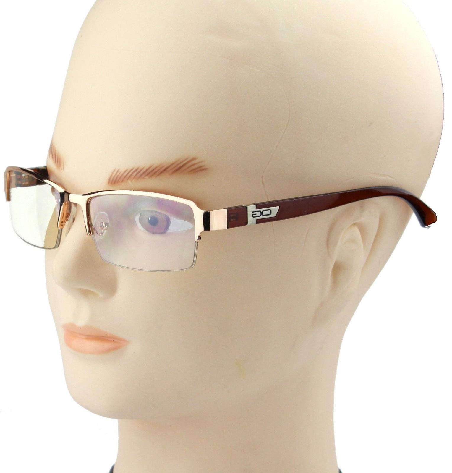 Half Eyewear Clear Lens Eye Glasses Nerd