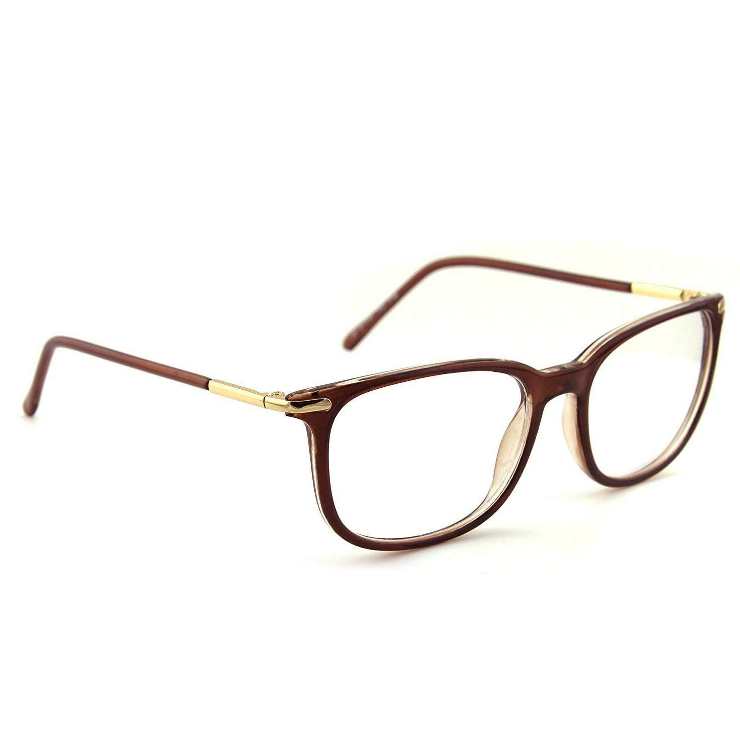 Fashion Temple Rimmed Clear Lens Eye Glasses