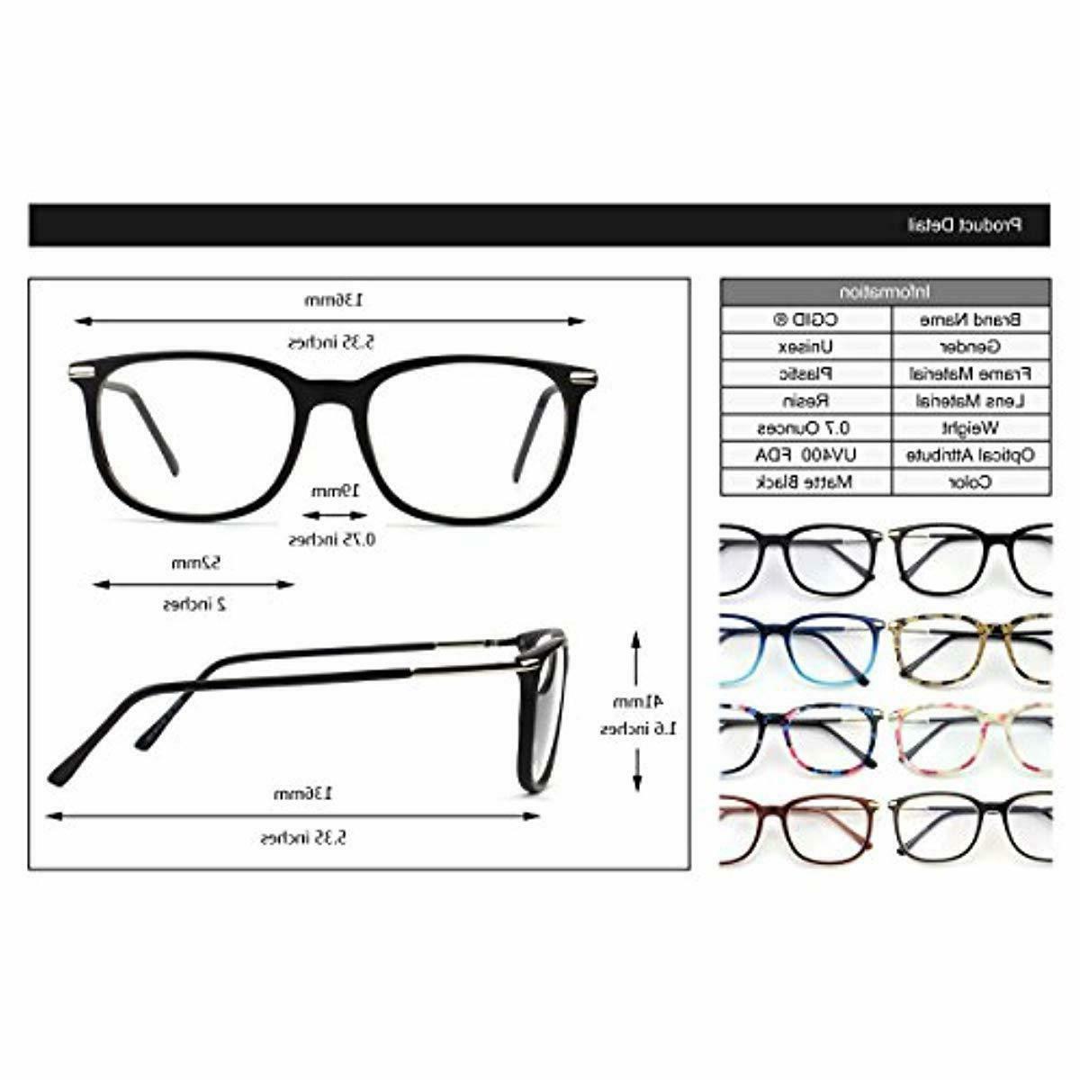 Happy Fashion Metal Temple Rimmed Lens Glasses