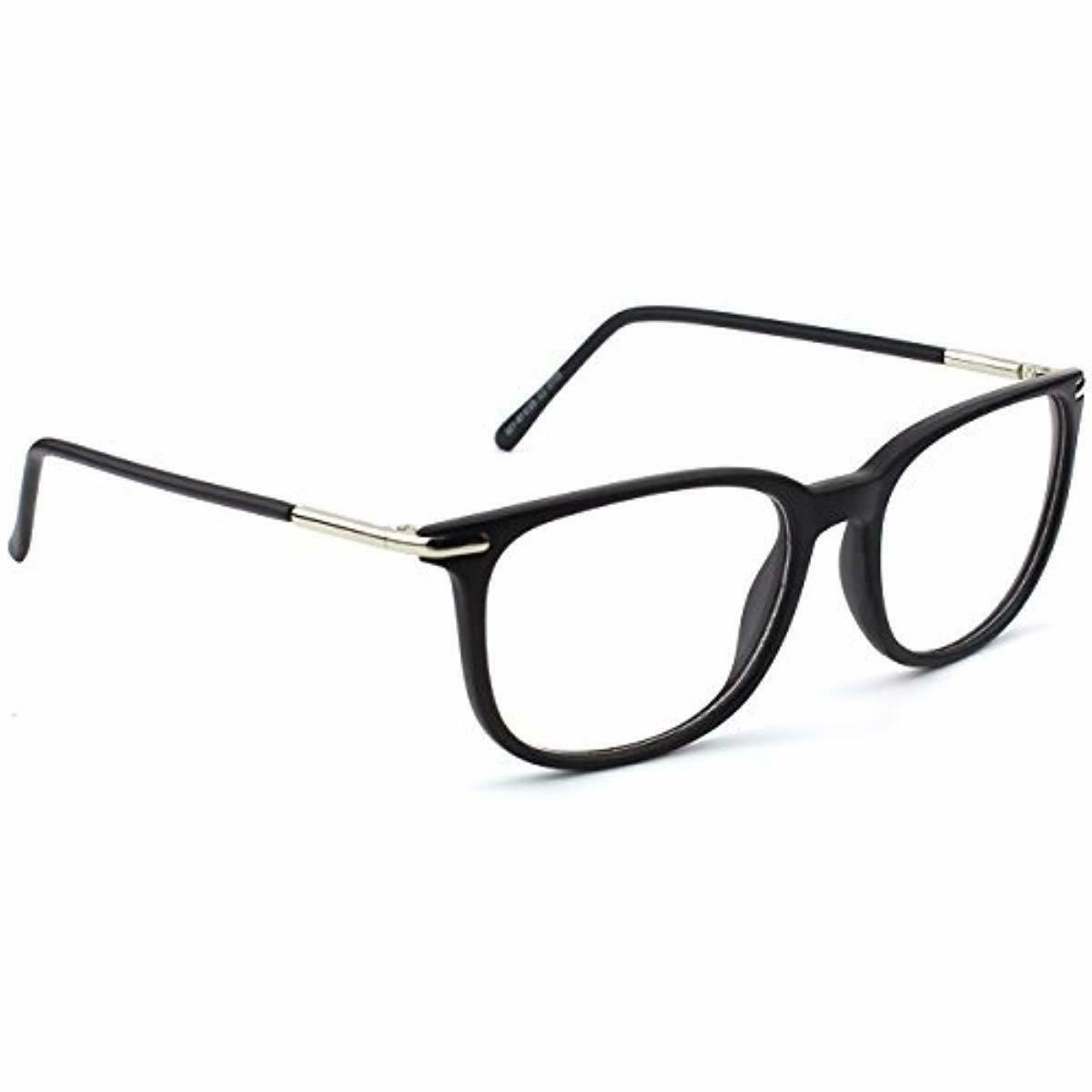 Happy Store CN79 High Fashion Metal Temple Horn Rimmed Clear Glasses