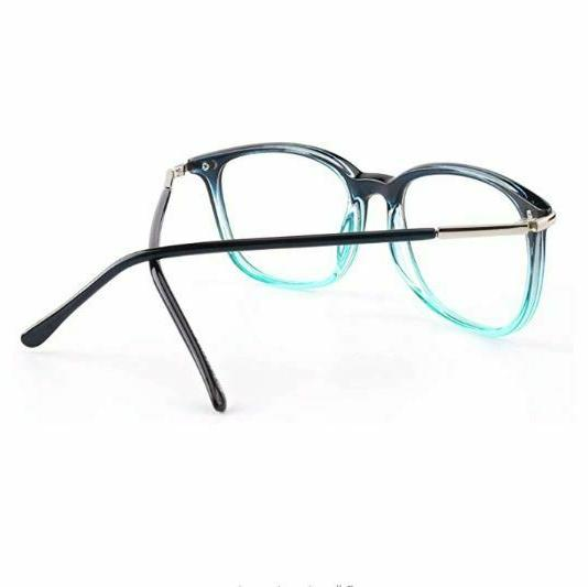 Happy High Fashion Metal Horn Rimmed Clear Lens Eye Glasses