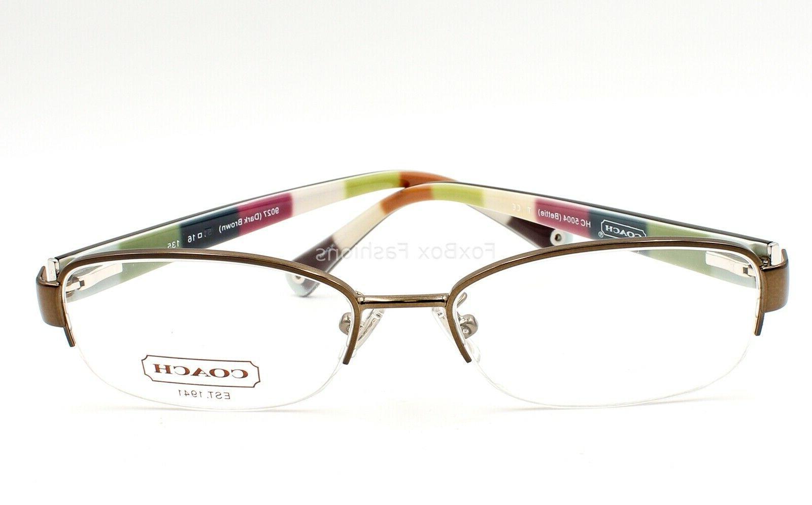 Coach HC Bettie Half Rimless Eyeglasses Frames Glasses