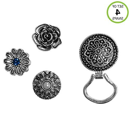 Evelots® Interchangeable Snap Button Centerpiece Eye Glass
