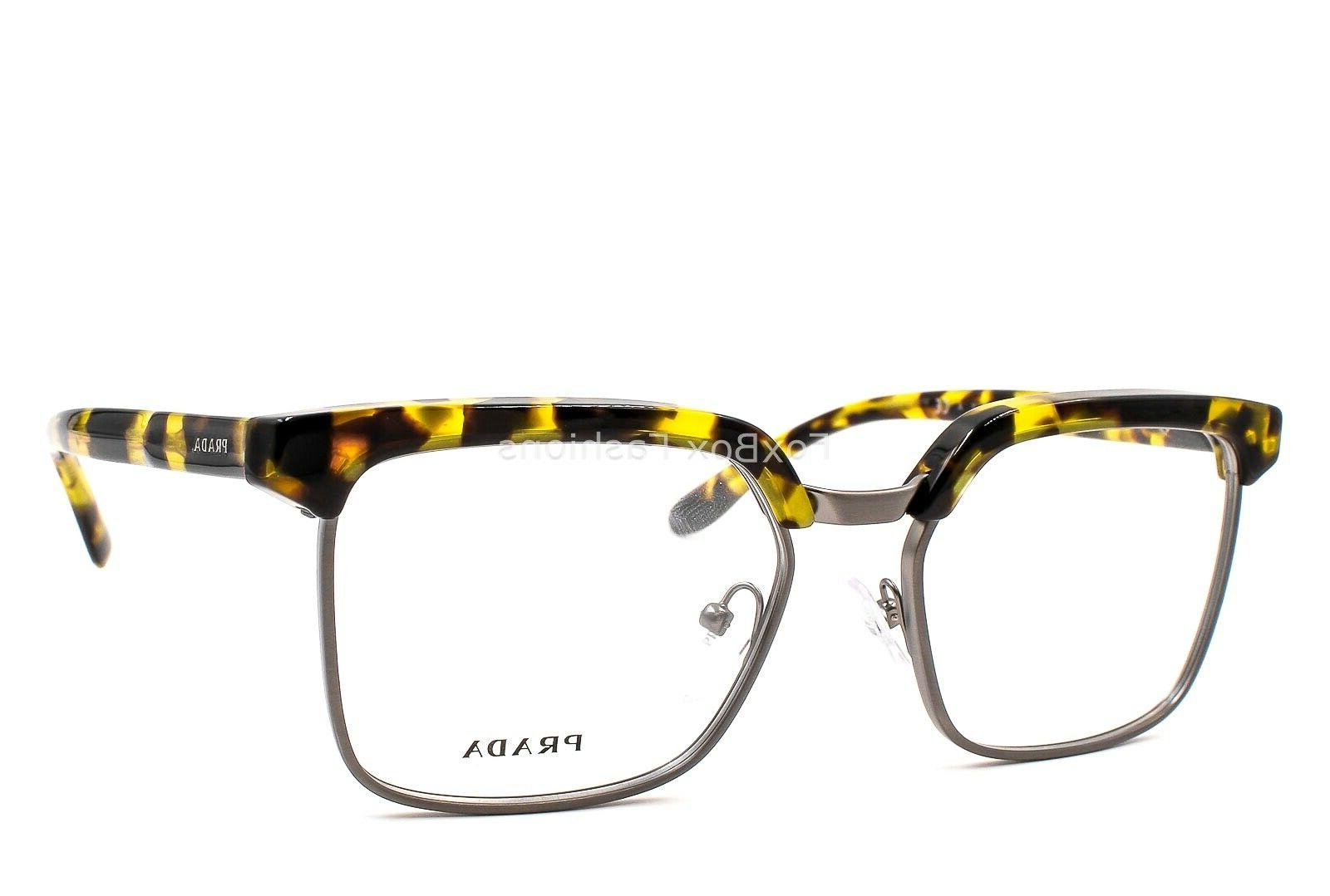 PRADA JOURNAL VPR UBL-1O1 Eyeglasses Yellow Havana