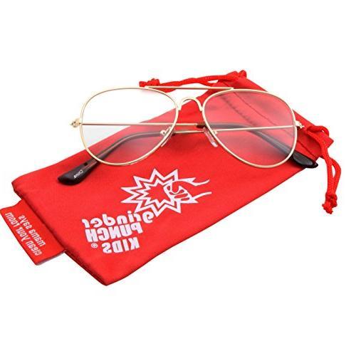 Kids Fake Glasses Non Prescription Gold