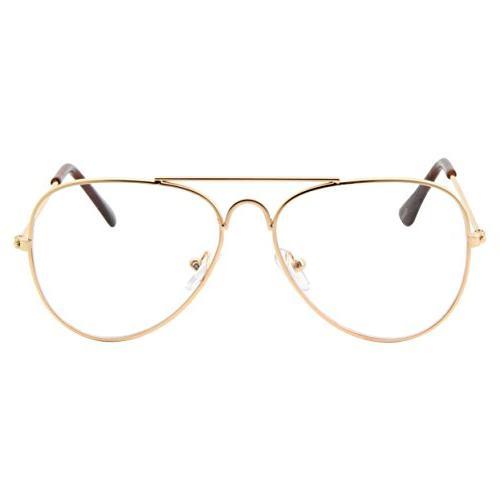 Kids Aviator Eye Glasses Clear Children's Non