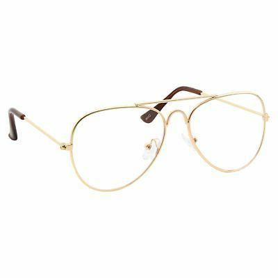 kids fake aviator eye glasses clear lens