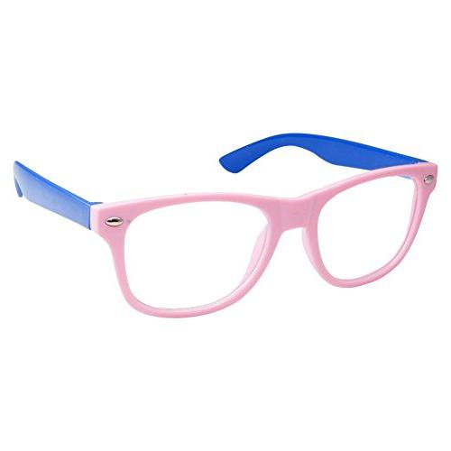 kids nerd retro two color frame clear